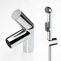 IL BAGNO ALESSI Dot by Oras, washbasin (bidet) faucet with Bidetta multi-purpose hand shower (8612)