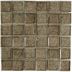 daltile barossa valley crystal glass smoke   Barossa Glass Mossic Tile - discontinued