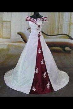 good color combo, I suspect it's a wedding dress...