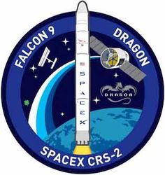 SpaceX CSR-2 Mission Patch. http://www.aerospaceguide.net/iss/spacex-crs-2.html #space #spacex #iss