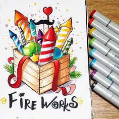 Artwork for our sketch marathon theme Copic Marker Drawings, Sketch Markers, Beautiful Drawings, Cute Drawings, Copic Art, Christmas Drawing, Copics, Art Sketchbook, Art Sketches