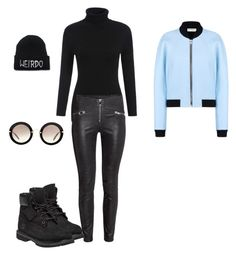 """Baby blue"" by dawn-wickham on Polyvore featuring Timberland, Miu Miu, Balenciaga, women's clothing, women's fashion, women, female, woman, misses and juniors"