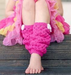 Girly leg warmers free crochet pattern