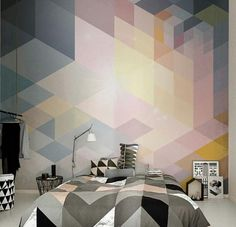 geometric decoration patterns and modern bedroom designs