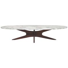Mid-Century Modern Marble Top Surfboard Coffee Table | From a unique collection of antique and modern coffee and cocktail tables at https://www.1stdibs.com/furniture/tables/coffee-tables-cocktail-tables/
