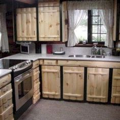 Pallet kitchen cabinets - 42 More Creative DIY Rustic Kitchen Decoration Idea for Small Space – Pallet kitchen cabinets Pallet Kitchen Cabinets, Farmhouse Kitchen Cabinets, Rustic Cabinets, Diy Cabinets, Kitchen Cabinetry, Kitchen Cabinets Made From Pallets, Unfinished Cabinets, Diy Cabinet Doors, Pallet Cabinet