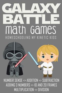 Galaxy Battle Math in a Tin - In Our Pond Addition Activities, Math Addition, Addition And Subtraction, Stem Activities, Star Wars Games, Star Wars Kids, Math Workbook, Singapore Math, Four Kids