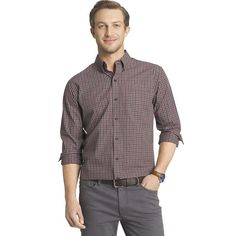Men's Arrow Classic-Fit Plaid Button-Down Shirt, Size: