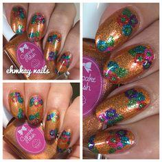 ehmkay nails: Cupcake Polish Luau Collection Hawaiian Flower Nai...