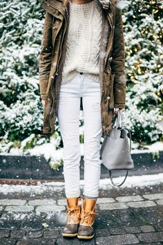 Love the whole look. I've always wanted a pair of duck boots. Am I allowed to completely love duck boots?