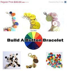 ON SALE Summer Jewelry Bracelet Button Charms by LovesParisStudio, $24.00