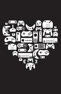 Controller Lover (White on Black) by pinksage. #gaming #prints
