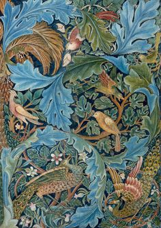 William Morris - Design for a Tapestry.I love William Morris Designs. William Morris Wallpaper, William Morris Art, Morris Wallpapers, Motifs Art Nouveau, Motif Art Deco, Bird Design, Design Art, William Morris Patterns, Motifs Textiles