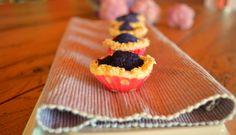 Mini sfoglie veg con cavolfiore viola