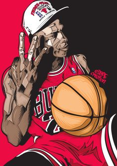 Michael Jordan '3-Peat' Illustration