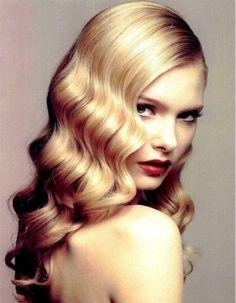 Vintage Frisur Haarwellen mit Glanz