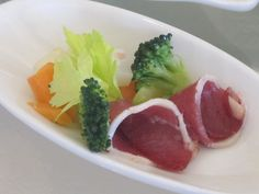 Smoked duck with vegetables