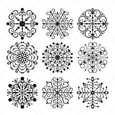Decorative Vector Snowflakes Set  #GraphicRiver         Decorative vector Snowflakes isolated on white background. EPS 8 vector illustration. Contains no opacity and blending modes.     Created: 29August13 GraphicsFilesIncluded: JPGImage #VectorEPS Layered: Yes MinimumAdobeCSVersion: CS Tags: abstract #art #background #beautiful #beauty #christmas #crystal #decor #decoration #design #flake #frost #frozen #graphic #icon #illustration #isolated #nature #new #ornament #ornate #paper #pattern…