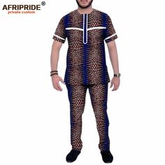 African Wear Styles For Men, African Shirts For Men, African Dresses Men, African Tops, African Clothing For Men, African Fashion Ankara, African Clothes, African Print Fashion, Cotton Suit