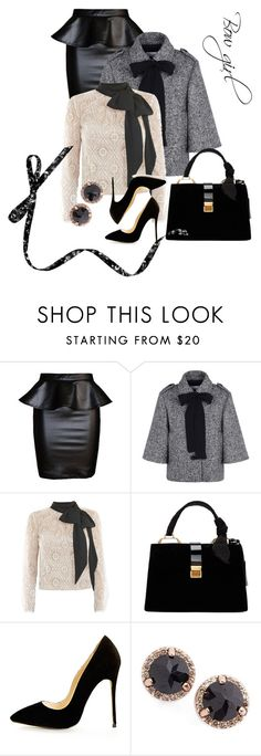 """""""Bow girl"""" by bearblossoms on Polyvore featuring RED Valentino, Victor Xenia, Miu Miu and Anna Sheffield"""
