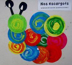 le site de l'école maternelle les Orchidées - nos productions - nos escargots spirales