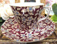 Lord Nelson Ware Tea Cup and Saucer Chintz Brocade Pattern