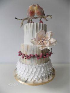 zaľúbené vtáčiky , svadobné torty | Tortyodmamy.sk