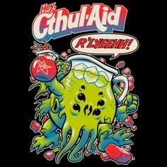 CTHUL-AID is a T Shirt designed by BeastPop to illustrate your life and is available at Design By Humans