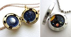 Miniature Astronomy Lockets That Hide The Universe Inside | Bored Panda
