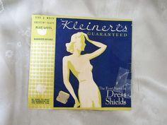 Dress Shields  Vintage 1940s Underarm Sweat Pads  by LunaJunction