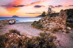 Sunset at Xerocambos, Crete, Greece by Joe Daniel Price on Beautiful Sky, Beautiful Places, Crete Greece, Where To Go, Sunrise, Places To Visit, Clouds, Island, Beach