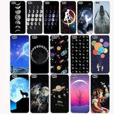 2578G fashion Astronaut moon Stars Transparent Hard Cover Case for Huawei P8 p9 p10 lite PLUS p8lite Honor 8 LITE 4X 4C 6 7 G7