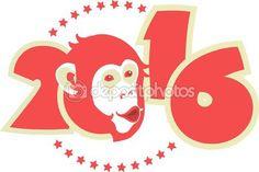 기호 2016 원숭이 — Stock Illustration #54748763