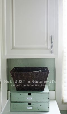 spray painted cabinets