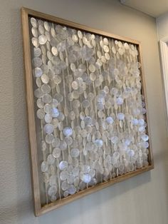Columns of iridescent capiz shells strung from a pine wood frame with graywash finish imbue this generously-sized wall art with island influence. Beach Wall Decor, Room Wall Decor, Wood Wall Art Decor, Wooden Decor, Big Wall Art, Framed Wall Art, Artwork Wall, Hanging Artwork, Wall Hanging Crafts