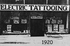 Great grandpa Jack Gavett - Electric tattooing 1920
