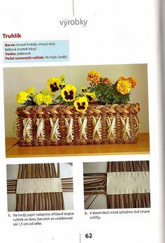 návod na truhlík | Pletení z papíru Recycled Paper Crafts, Recycled Magazines, Diy Crafts, Recycle Newspaper, Newspaper Crafts, Paper Weaving, Weaving Art, Basket Drawers, Paper Basket