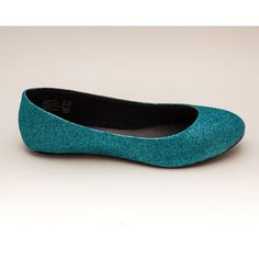 Glitter Turquoise Sky Blue Ballet Flat Slipper Shoes ($50) ❤ liked on Polyvore featuring shoes, flats, ballet shoes, dark olive, slip ons, women's shoes, clear flats, ballet pumps, ballerina pumps and glitter shoes