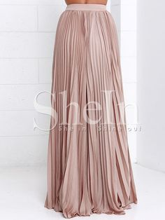 Shop Pink Pleated Maxi Skirt online. SheIn offers Pink Pleated Maxi Skirt & more to fit your fashionable needs.
