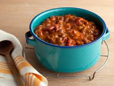 Southern Baked Beans from FoodNetwork.com I make it a tad bit healthier. Omit the sugar, bacon, use sugar free syrup and low carb or no salt ketchup and add low carb bbq sauce--KC Masterpiece--same amount as ketchup, also cut the mustard down to 2 Tbsp.