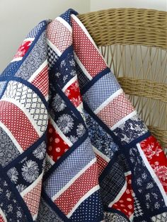 Twinkle and Twine: Finished Products: Red, White, and Blue Quilt