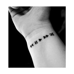 Music Tattoo Tumblr eyecatchingtattoos.com ❤ liked on Polyvore featuring accessories, body art and tattoo