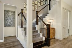 Stairway galleries for new homes for sale in Austin, Dallas – Ft Worth, Houston, Phoenix and San Antonio. U Shaped Staircase, Stairway Gallery, New Home Construction, New Homes For Sale, Dallas Texas, Stairways, Eagle, Room, House