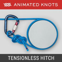 Tensionless Hitch - Rescue work or Rappelling Survival Knots, Survival Skills, Quick Release Knot, Splicing Rope, Animated Knots, Scout Knots, Bowline Knot, Hook Knot, Rope Knots