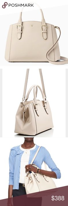 New Kate spade Charlotte street Sloan Brand new sold out Kate Spade large Charlotte street Sloan. Don't want to sell but bought months ago and never used and really in need of cash at the moment. Adjustable strap length of 34.6. Color is Pumice kate spade Bags