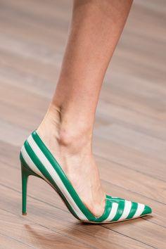 Elisabetta Franchi at Milan Fashion Week Spring 2020 - Details Runway Photos Stiletto Shoes, Shoes Heels, High Heels, Sock Shoes, Shoe Boots, Spring Outfits Classy, Fashion Week, Milan Fashion, Fashion Spring