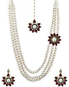 fc7e382f2 Zaveri Pearls Designer Necklace Set For Women - ZPFK675 Pearl Necklace  Designs