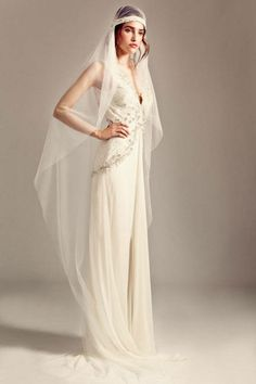 Temperley London's romantic 1920s style wedding dress is amazing for a vintage bride.