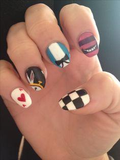 My nails!!! Alice in wonderland!
