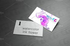 ink watercolor flower background Graphics Colourful watercolour flower drawing for use in artistic background- **artistic styles Collection* by RealCG Animation Studio